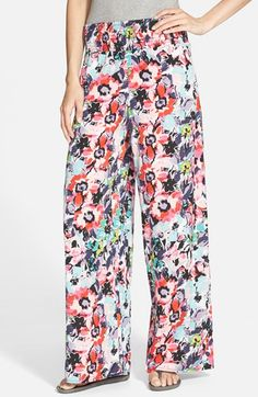 Zoe and Rose Print Smocked Waist Palazzo Pants (Juniors) available at #Nordstrom