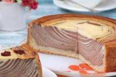 Очень вкусный творожный пирог «Зебра»
