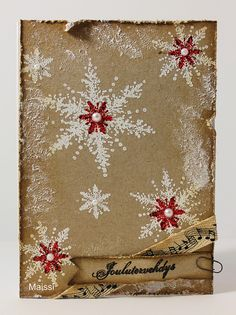 by Maissi Diy Christmas Cards, Xmas Cards, Card Making, Wraps, Xmas Ideas, Wrapping, Decorations, Home Decor, Cards