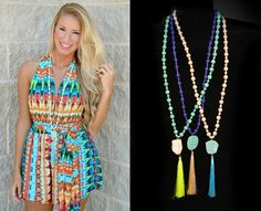 New neon. These neon tassel necklaces are to die for! They scream summer time!