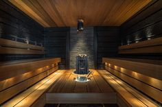 Sauna Design, Sauna Room, Infrared Sauna, Luxury Spa, Outdoor Kitchen Design, Home Spa, Garden Spaces, Bathroom Interior Design, Swimming Pools