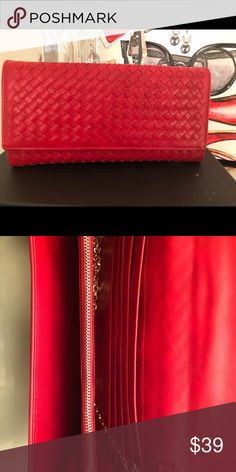 088f546612a Jimmy Choo CELESTE/S Red Suede Clutch Bag with Cube Clasp | Capelet ...