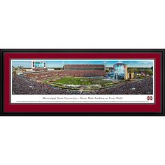 Worldwide Mississippi State Football Blakeway Panoramas Framed Print