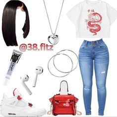 Swag Outfits For Girls, Cute Swag Outfits, Teenage Girl Outfits, Girls Fashion Clothes, Teen Fashion Outfits, Tween Fashion, Baddie Outfits Casual, Boujee Outfits, Dope Outfits