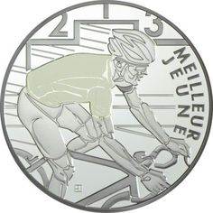 10 Euro Silber Tour de France: Weißes Trikot PP