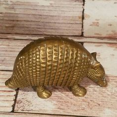 Brass Armadillo Brass Paperweight Southwest by VintageJunqueAmy