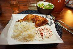 Typisch Tuerkisches Abendessen Haehnchen mit Reis und Salat Jamie Oliver, Nom Nom, Smoothie, Recipies, Low Carb, Chicken, Restaurant Ideas, Burger, Kuchen