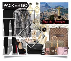 """Rio De Janeiro pack and go"" by jeneric2015 ❤ liked on Polyvore featuring Donna Karan, Wilsons Leather, Louis Vuitton, Christian Louboutin, Kate Spade, Lili Radu, Charlotte Tilbury, Style & Co., WithChic and Sarah Magid"