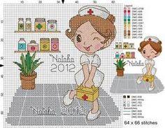 enfermeras en punto de cruz - Bing images