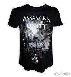 Assassins Creed T-Shirt Unity Arno Dorian Hier bei www.closeup.de