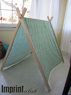 Imprintalish: For the Kids-DIY A Frame Tent