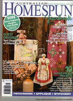 Australian Homespun Magazine -- All templates and patterns are at the end of Part 3 -- Part 3 of 3