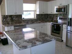 Bianco Antico Granite With White Cabinets