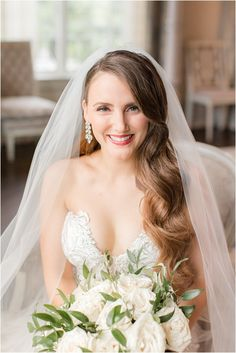 bride holds bouquet of white flowers sitting in bridal suite of Park Chateau Estate | Elegant summer wedding at Park Chateau Estate with ivory and pastel details photographed by New Jersey wedding photographer Idalia Photography. Planning a Park Chateau Estate wedding? Find inspiration here! #IdaliaPhotography #ParkChateauEstate #SummerWedding Bridal Suite, Bridal Robes, East Brunswick, Nj Wedding Venues, Wedding Morning, Bridesmaid Robes, Wedding Hair And Makeup, Wedding Gallery, Intimate Weddings