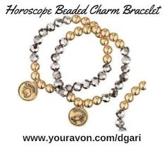 https://www.avon.com/product/horoscope-beaded-charm-bracelet-58135?rep=dgari&utm_content=buffer77d8c&utm_medium=social&utm_source=pinterest.com&utm_campaign=buffer Jewelry with meaning by choosing your sign with a key personality trait on the back! #avon #jewelry #bracelet