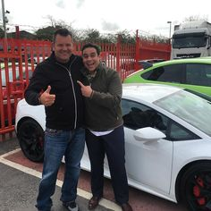 Boss man & Paul Ainsworth TV Chef from Cornwall came to us for a second time today after we sold his head chef a Subaru Impreza he was so impressed with the RSD Treatment they came back today and purchased a Range Rover Sport I think he might be back for the Lamborghini lol