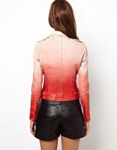 Image 2 ofMuubaa Fornas Ombre Leather Biker Jacket