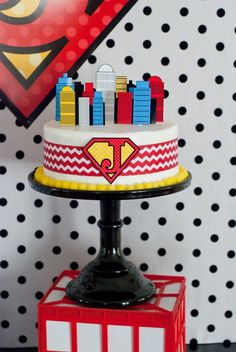 Make for under $20! super hero cake!