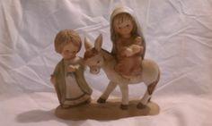 Enesco Little Bible Friends Flight Into Egypt 1980 Mary Joseph Baby Jesus Donkey | eBay