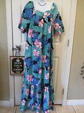b753a4de HILO HATTIE Womens Tropical Muu Muu House Patio Lounge Dress L Large  VINTAGE Muumuu, Party