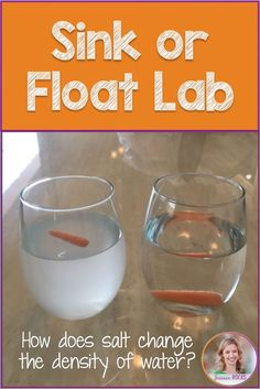 Sink or float lab- how much salt does it take to make a carrot float? Mad Science, Stem Science, Middle School Science, Science Experiments Kids, Physical Science, Science Fair, Teaching Science, Science For Kids, Chemistry Lessons