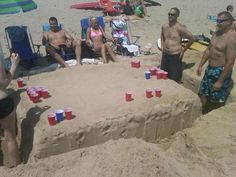 Boss Status—-most epic beer pong on the beach@Becky Fling Ainsworth @Dana Hall 2013!