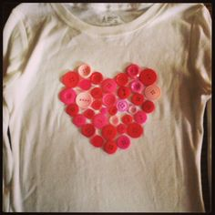 Valentine's Heart Button Shirt