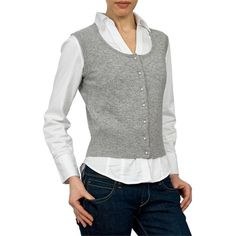 Womens Cashmere and Merino Scoop Neck Waistcoat ($36) ❤ liked on Polyvore featuring outerwear, vests, cashmere vest, white waistcoat, merino vest, white vest and merino wool vest