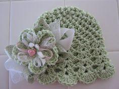 Green Blossom Hat