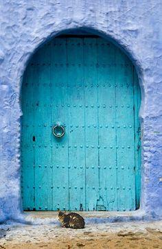 5- Puerta en Chefchaouen (Marruecos). Foto ©Daniel Nadler