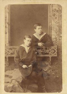 Nicholas II, Emperor of Russia, when Tsesarevich and Grand Duke George Alexandrovich