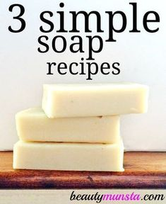Here are 3 DIY melt and pour soap recipes with shea butter! Learn how to make your own soap for dry skin, sensitive skin and more!