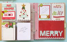 Love the top left card - our favorite holiday mix! By Karen Anderson