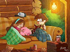 Dipper and Mabel Pines - Gravity Falls Dipper Pines, Dipper And Mabel, Mabel Pines, Reverse Gravity Falls, Gravity Falls Au, Reverse Falls, Billdip, Bubbline, Monster Falls