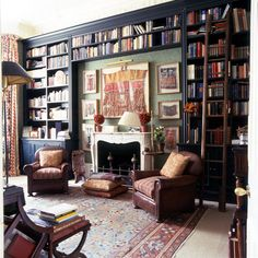 69 Trendy Home Library With Ladder Interior Design Interior Design London, Interior Design Companies, Luxury Interior, Interior Design Books, Home Library Design, Home Design, Dream Library, Design Ideas, Design Projects