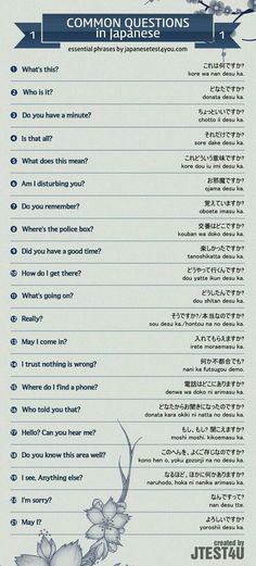 Educational infographic & data visualisation Infographic: Common Questions in Japanese Part 1 Infographic Description Infographic: common questions in Japanese part – Infographic Source –