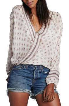 Free People 'Before Dawn' Surplice Top available at #Nordstrom