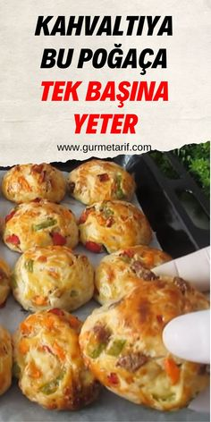 Turkish Recipes, Ethnic Recipes, Late Night Snacks, Breakfast Muffins, Dinner Rolls, Diy Food, Brunch, Food And Drink, Dishes