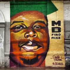 Mike Brown - Find Peace by Danielle Mastrion in NYC