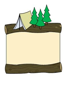 camping pictures for stationary | Summer Camp Stationery Sheet