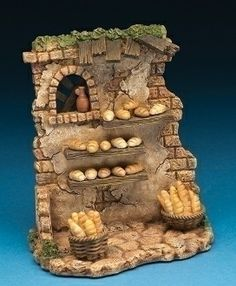 Fontanini Bread Stand Building Italian Nativity Village Figurine Set for sale online Christmas Nativity Scene, Christmas Villages, Fun Crafts, Diy And Crafts, Fontanini Nativity, Maker Shop, Ceramic Houses, Miniture Things, Fairy Houses