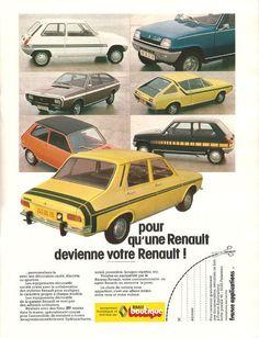 Vintage Cars : Illustration Description Renault always did love their racing stripes Alpine Renault, Renault Sport, Classic Motors, Classic Cars, Vintage Advertisements, Vintage Ads, Auto Journal, Supercars, Car Camper