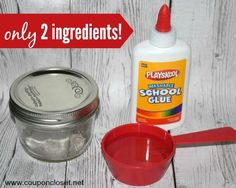 Homemade Mod Podge recipe ingredients