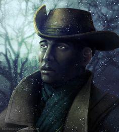 Preston by ErstwhileSky on DeviantArt Fallout 4 Companions, Preston Garvey, The Minutemen, Fallout Art, Fall Out 4, Riding Helmets, Fandoms, Fan Art, Deviantart