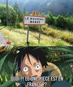 The One Piece is in France? – Be-troll – humor videos, unusual news Manga Anime, Comic Manga, Anime Neko, Otaku Anime, One Piece Meme, One Piece Funny, Unusual News, One Piece Drawing, One Piece Images