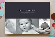 high style baby Birth Announcements by kelli hall at minted.com