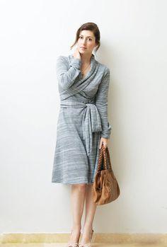 Casual Sweatshirt Dress, Day Winter Dress, Long Sleeved Warm Dress, Light Grey on Etsy, $99.00
