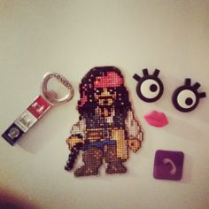 I'm sure the soundtrack will ring in your ears at the very time you see this photo of my magnet. Jack Sparrow :) #crossstitch
