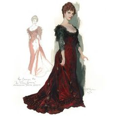Costume designs by Robert Perdziola for the Shakespeare Theatre Company's production of An Ideal Husband.