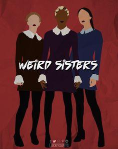 Series Movies, Tv Series, Sister Wallpaper, Voodoo Party, Harvey Kinkle, Weird Sisters, Teen Tv, Night Aesthetic, Doodle Art Journals